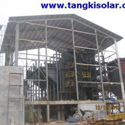 Huge Boiler On Construction